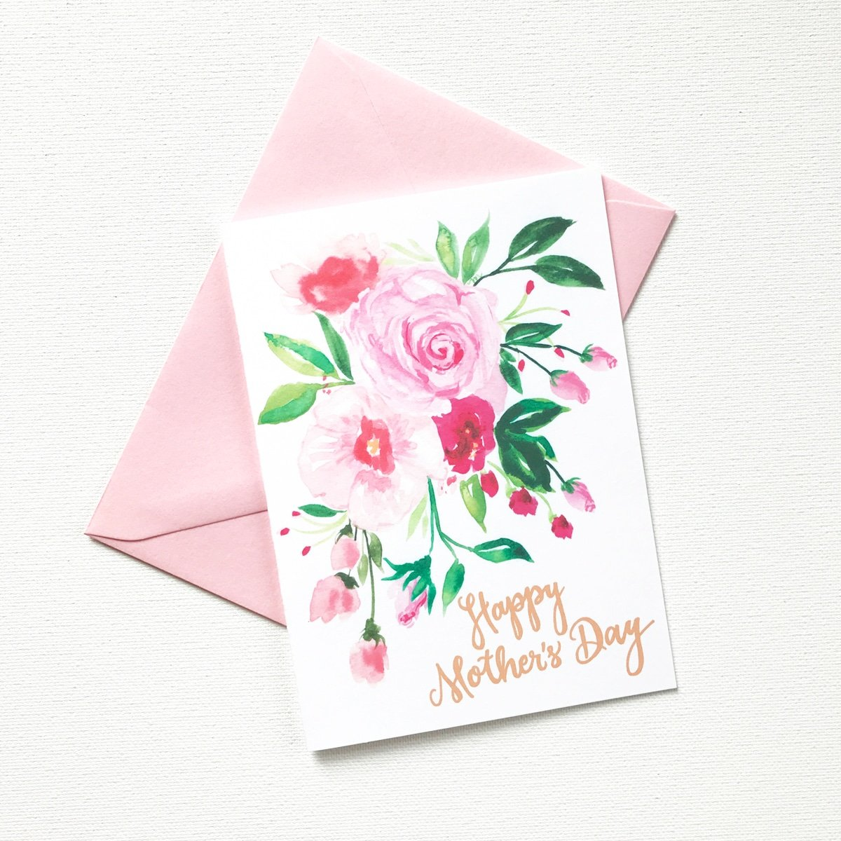 PINK POSY MOTHER'S DAY CARD