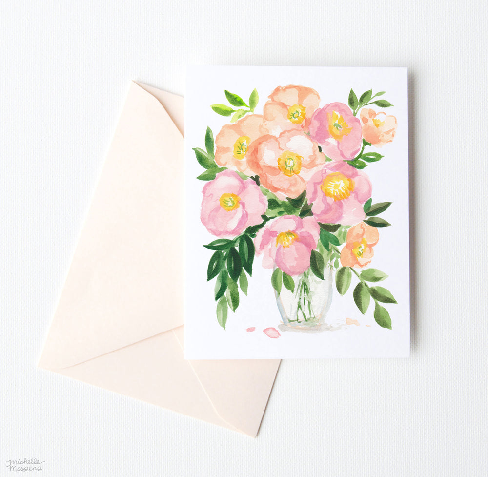 POPPY POSY NOTE CARDS SET