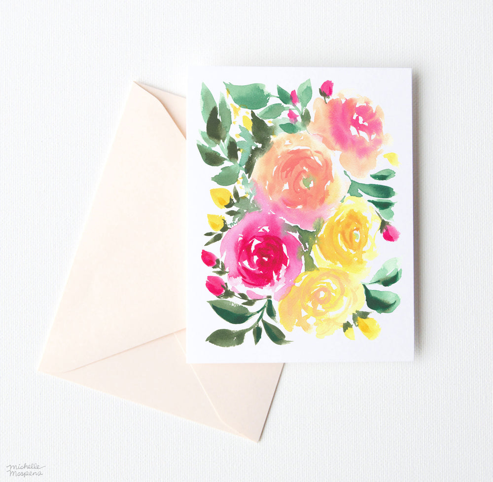 ROSABELA FLORAL NOTE CARDS SET