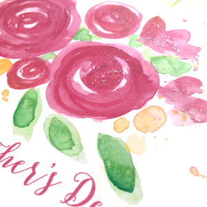 SANGRIA ROSE BLOOMS MOTHER'S DAY CARD