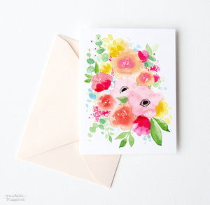 SPRING POSY NOTE CARD SET