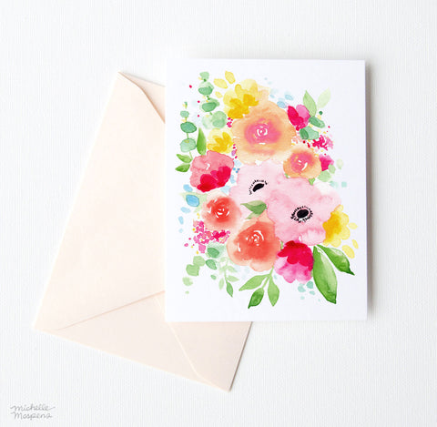 SPRING POSEY NOTE CARD SET