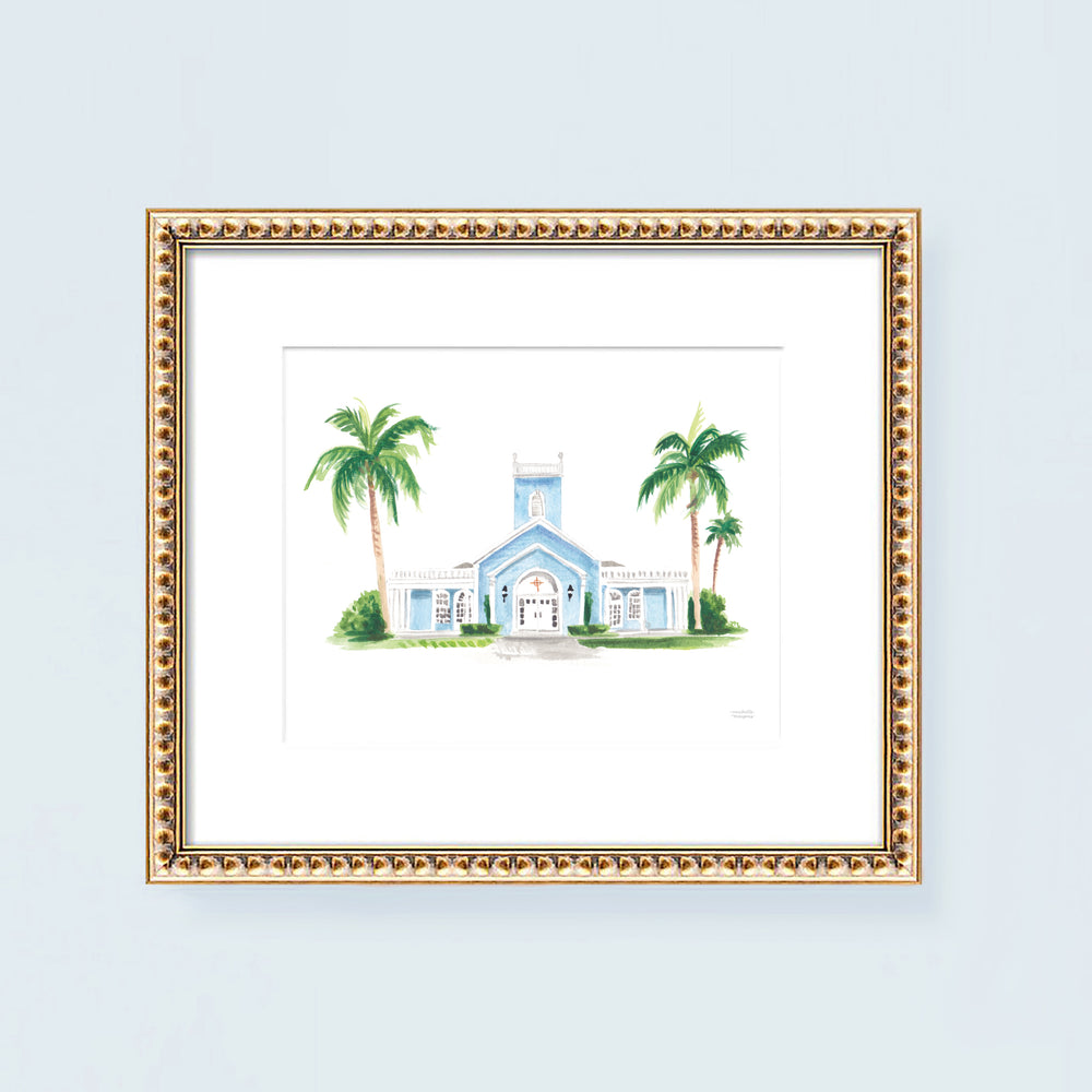 The Royal Poinciana Chapel Art Print