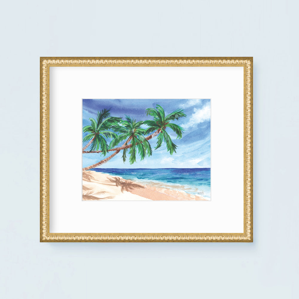 Island Vibes Watercolor Art Print