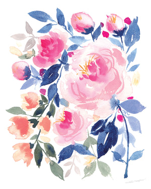 Load image into Gallery viewer, Belle Peonia Watercolor Art Print