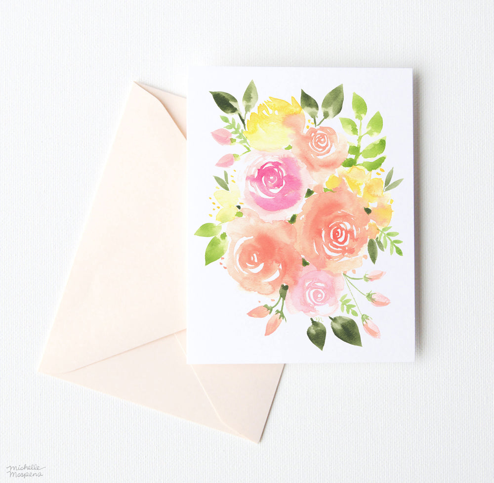 BLOSSOM-FILLED NOTE CARD SET
