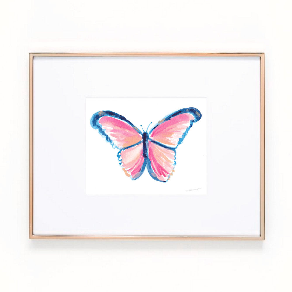 Cotton Candy Butterfly Art Print
