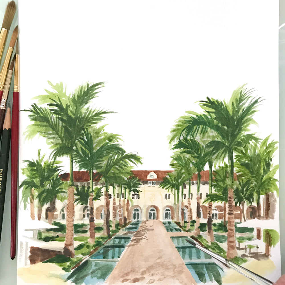 Load image into Gallery viewer, Casa Marina in Key West Art Print