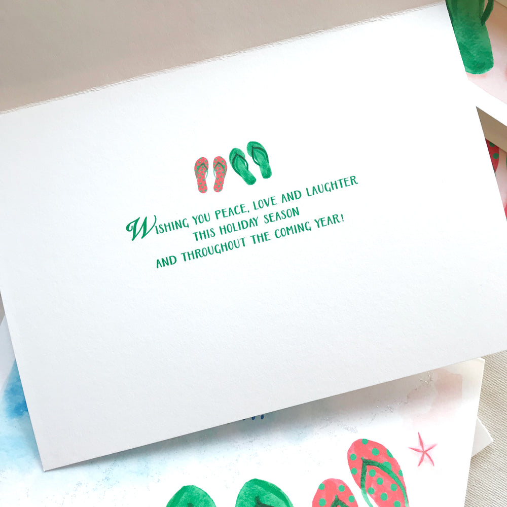 PERSONALIZE THE INSIDE OF CHRISTMAS CARD SET OF 8