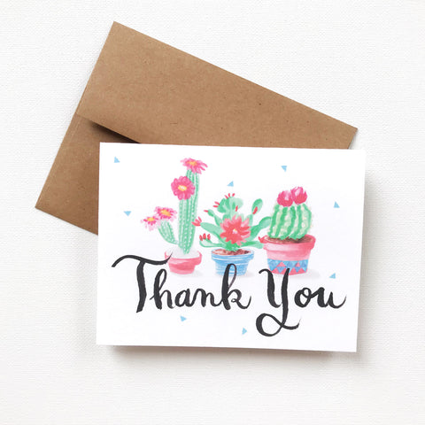 FESTIVE CACTUS THANK YOU CARD