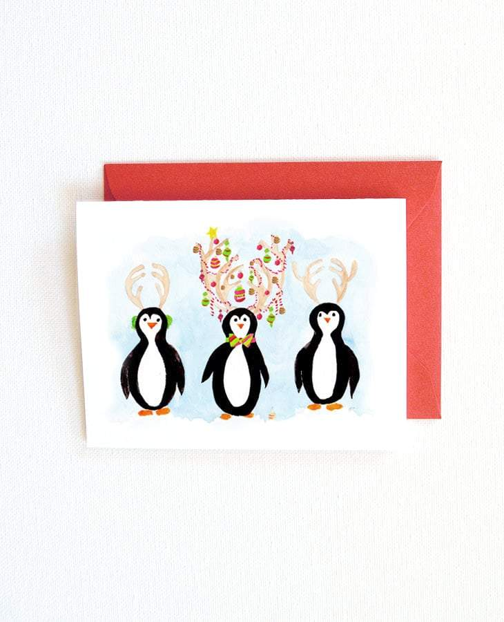 PENGUINS CHRISTMAS CARD SET
