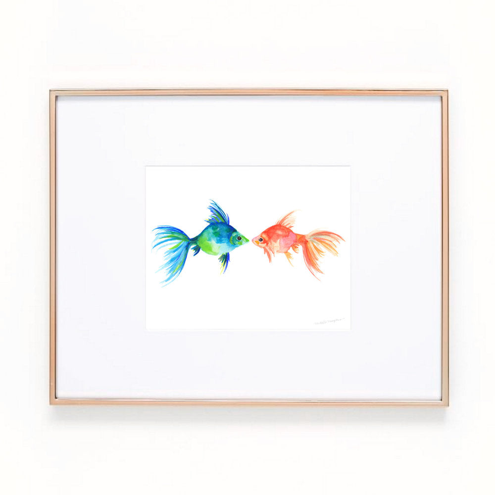 Watercolor Two Fish Art Print