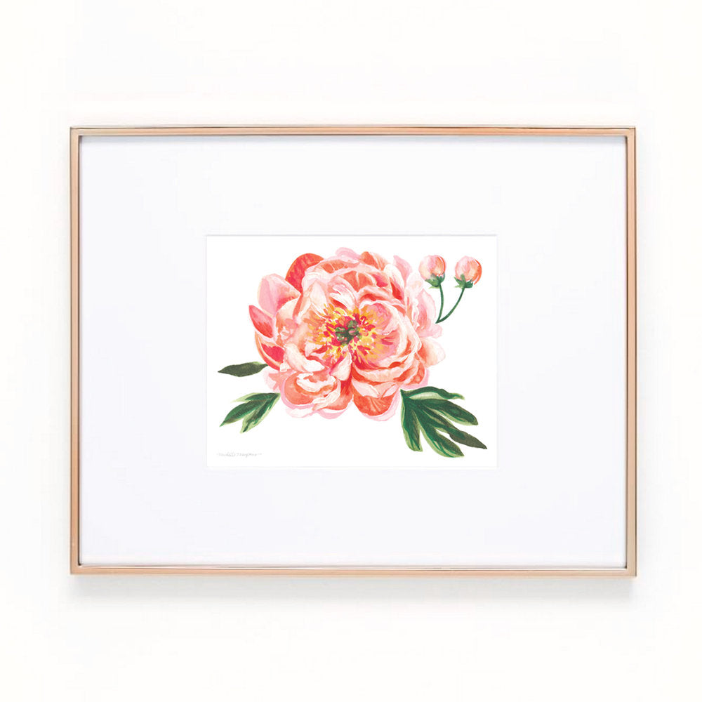 Load image into Gallery viewer, Peach Peony Floral Art Print
