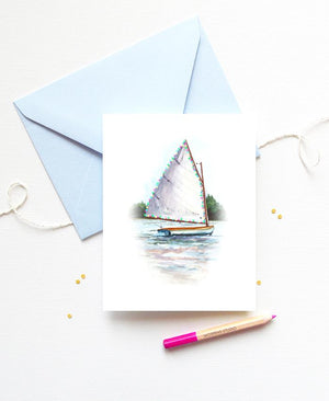Load image into Gallery viewer, NAUTICAL SAILBOAT CHRISTMAS CARD SET