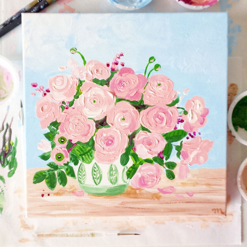Load image into Gallery viewer, Kiwi Floral Painting