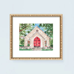 Log Cabin Church Georgia Art Print