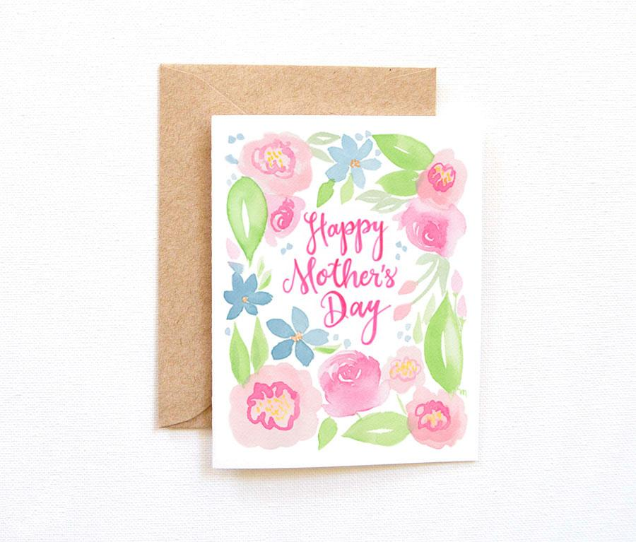 PASTEL FLORAL MOTHER'S DAY CARD
