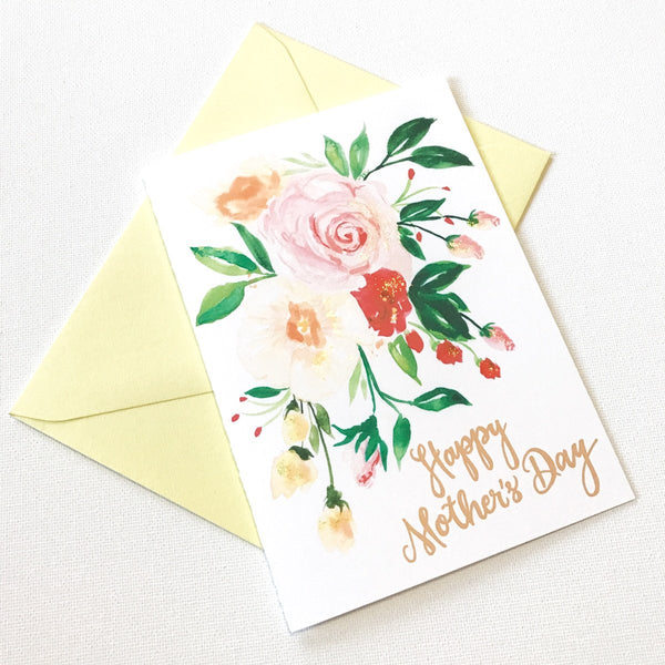 YELLOW POSY MOTHER'S DAY CARD