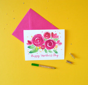 SANGRIA BLOOMS MOTHER'S DAY CARD