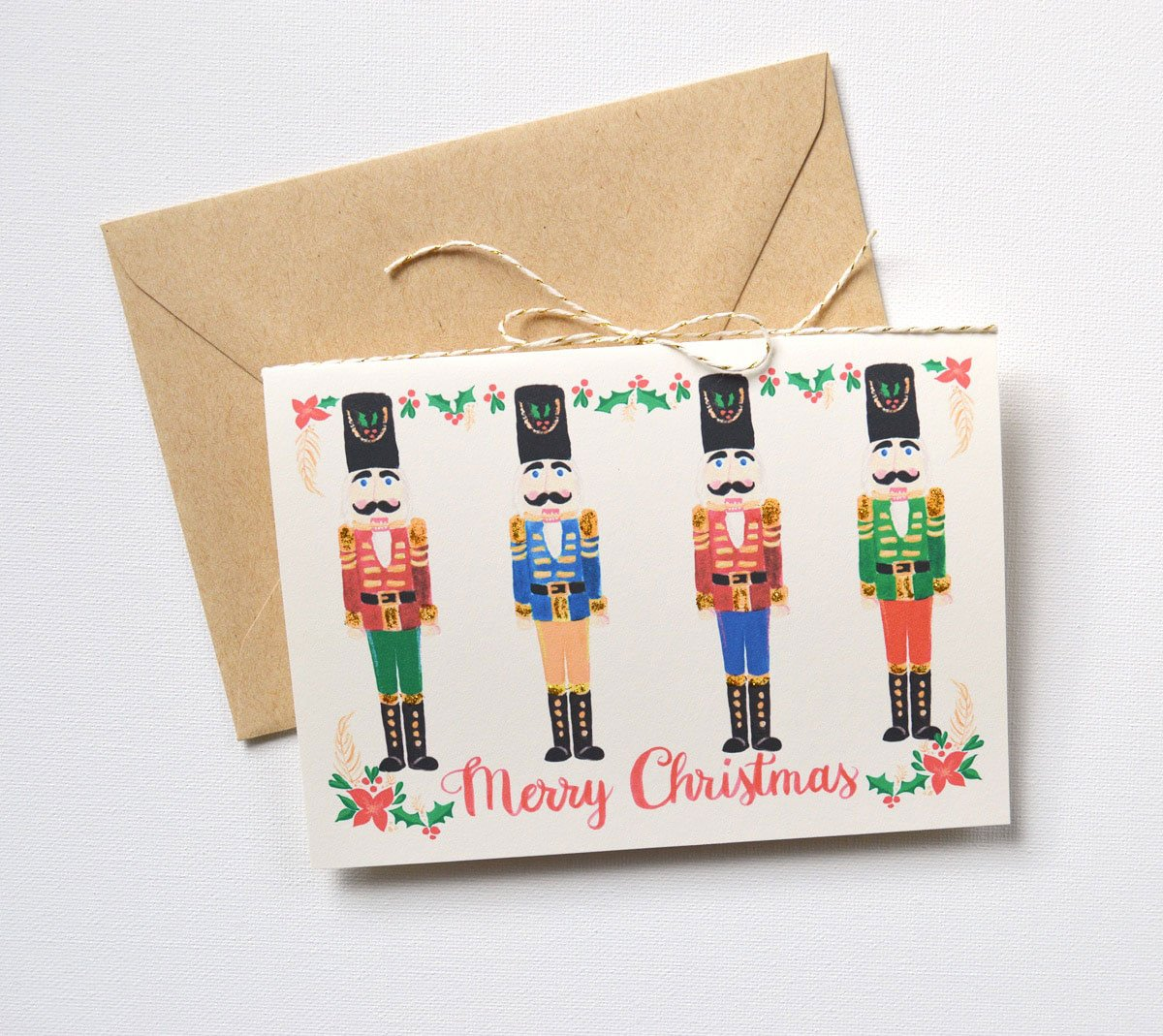 HANDMADE NUTCRACKER CHRISTMAS CARD