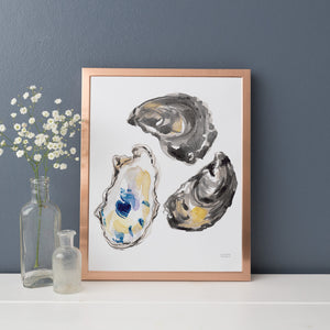 Load image into Gallery viewer, Watercolor Oyster Shells No. 9 Art Print