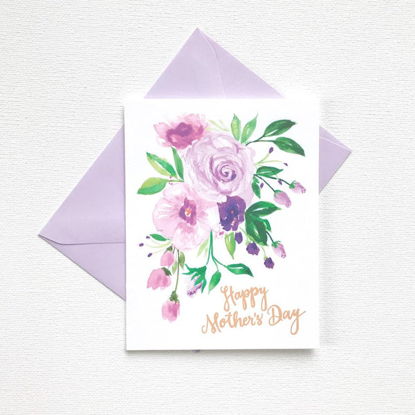 PURPLE POSEY MOTHER'S DAY CARD