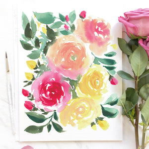 Load image into Gallery viewer, Rosabela Watercolor Art Print