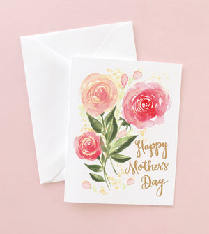 ROSE TRIO MOTHER'S DAY CARD