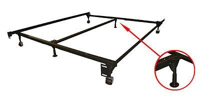 "GTU Forniture Plastic Bed Frame Feet/Glide Legs to Replace Wheels, 3 1/4"" Tall/High"