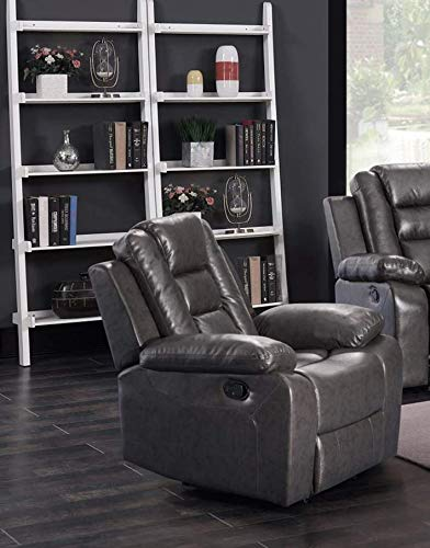 GTU Furniture Grey Pu Leather Reclining Chair