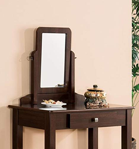 GTU Furniture Transitional Vanity Set with Mirror Stool
