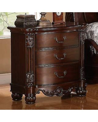 GTU Furniture Traditional Style Rich Cherry Queen/King Bedroom Set