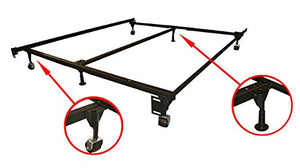 GTU Furniture Adjustable Steel Metal Bed Frame, for Box Spring & Mattress Set, Fits Twin/Full/Queen/King