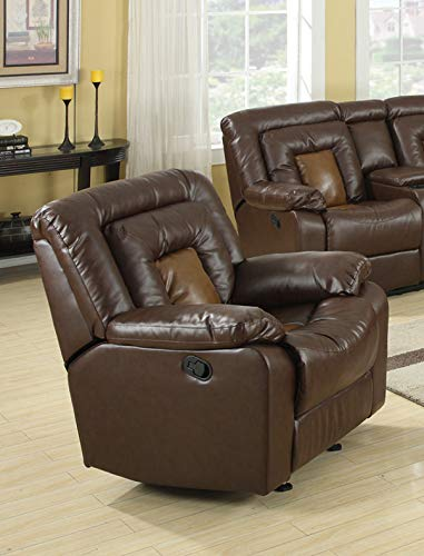 GTU Furniture Cobra Leather Recliner