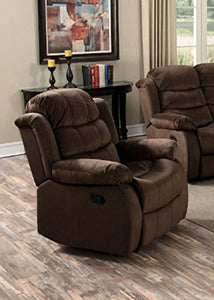 GTU Furniture Cocoa Short Plush Recliner