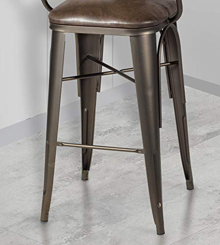 GTU Furniture Banco Tony Dark Champagne Palance Sable Bar Stool