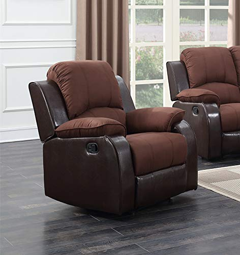 GTU Furniture Brown Micro On Brown Pu Leather Recliner