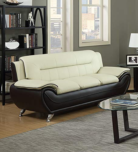 GTU Furniture Contemporary Bonded Leather Sofa & Loveseat Set/Sofa, Loveseat & Chair Set