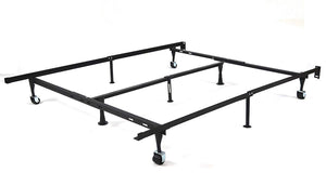 GTU Furniture 9-Leg Adjustable Heavy-Duty Steel Bed Frame Support with Center Support, for Box Spring & Mattress Set, Fits Twin/TXL/Full/Queen