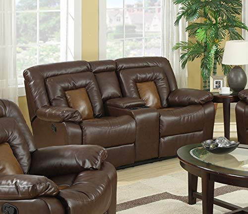 GTU Furniture Cobra Leather Reclining Loveseat