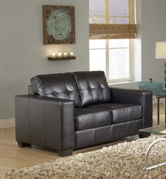 GTU Furniture Contemporary Leather Loveseat