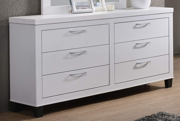 GTU Furniture Contemporary Styling White Twin/Full/Queen/King Bedroom Set