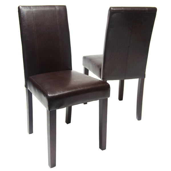 GTU Furniture Set of 2 Pu-Leather Elegant Modern Dining & Kitchen Chairs