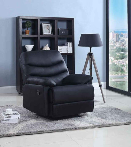 GTU Furniture Rocker Recliner, Black Leather