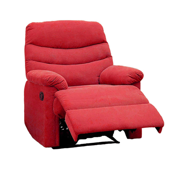 GTU Furniture Rocker Recliner, Red Microfiber