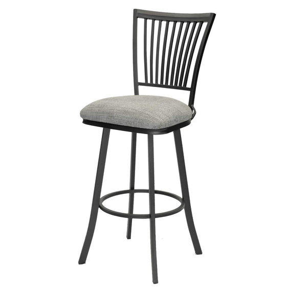 GTU Furniture Banco Hunter Black Metal Bar Stool -Beauty Grey