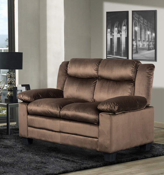 GTU Furniture Chocolate/Grey Loveseat
