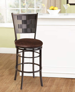 GTU Furniture Banco Riviera Golden Brown Palace Sable Swivel Bar Stool