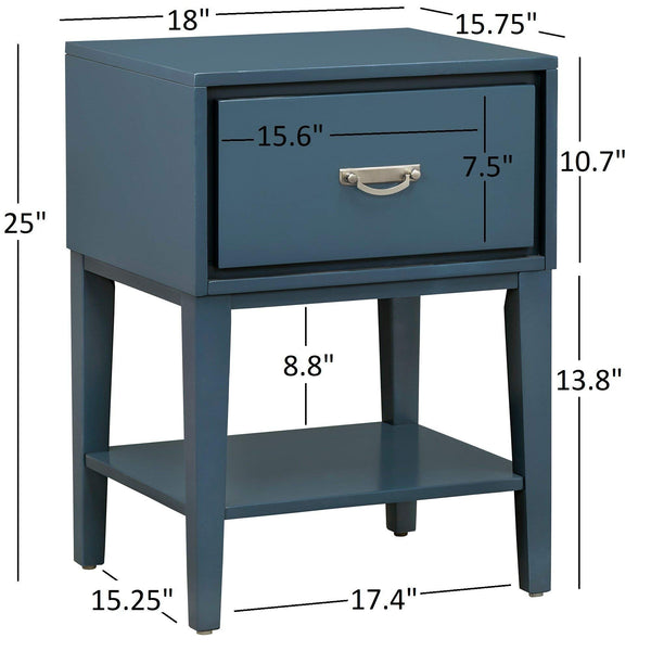 GTU Furniture Rectangle Wood End Table