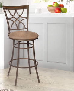 GTU Furniture Banco Gardner Bronce Kupfer Matte Palance Sable Swivel Bar Stool
